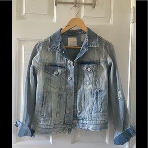 Zara distressed relax style denim jacket